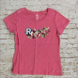 Roxy Pink Logo T Shirt